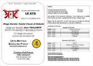 Stage KTK des 17-18 mars 2012